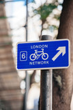 London bicycle network sign in London England