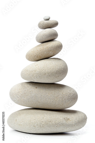 white stones isolated on white background