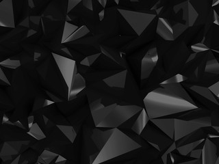 Abstract Black Geometry Background