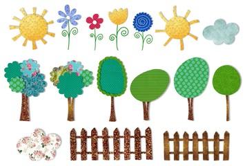 set decorative elements