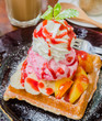 Waffle with icecream