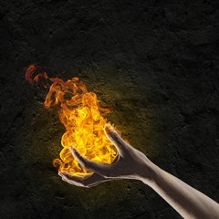 Fire in hand