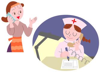 看護師と電話相談