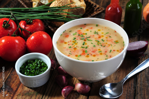 Vegetables soup bowl