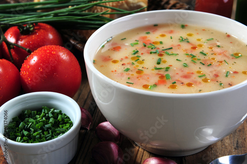 Vegetables soup bowl