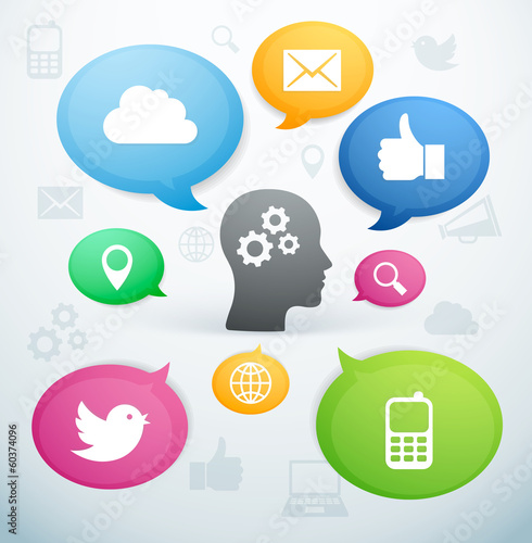 Réseau social internet icône