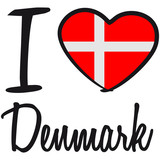 I Love Denmark Danmark Logo poster