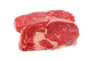 A cut of meat from the back : fresh Sirloin steak