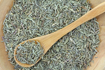 Closeup photography of dried Thyme