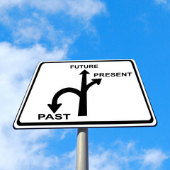 present past future sign