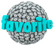 Favorite Word Hashtag Tag Sphere Best Trend Topic