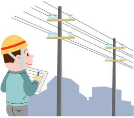 電線の点検