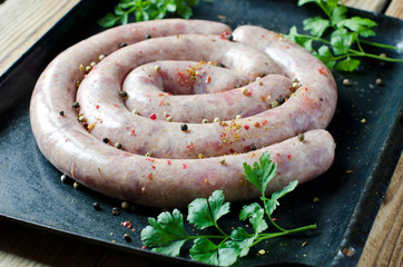 Homemade pork sausages