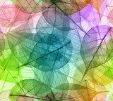 Macro leaves seamless background