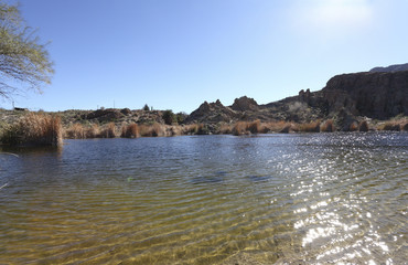 Ayer Lake near Magma Ridge in Superior, AZ