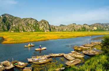 Van Long - The famous eco-tourism of Ninh Binh,Vietnam