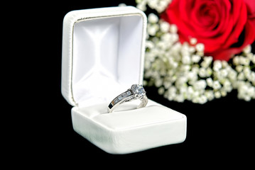 diamond ring in ring box