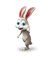Happy bunny with walking