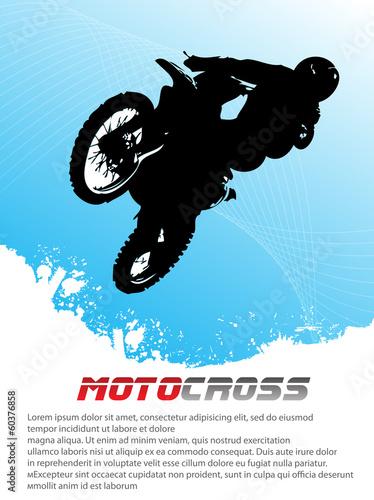 Fototapeta Vector motocross