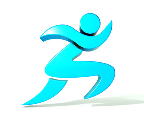 Spa athletic 3D man figure logo