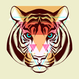 Tiger. Fashion illustration