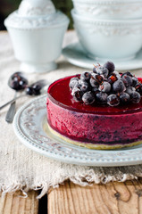 Berry cheesecake on a plate
