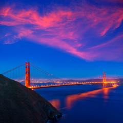 Golden Gate Bridge San Francisco sunset California