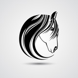 Horse head. Vector illustration