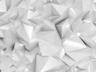 Abstract White Geometry Background