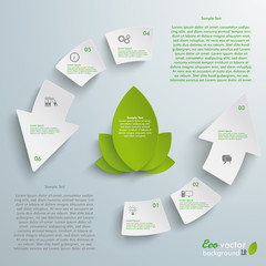 Eco Cycle Infographic Arrows 6 Pieces