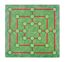 Isolated empty game board