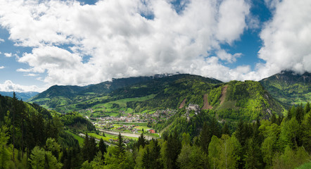 Beautiful panoramic view of mountains, Austria