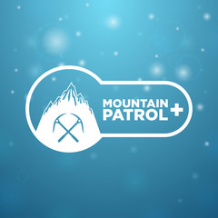logotype mountain patrol