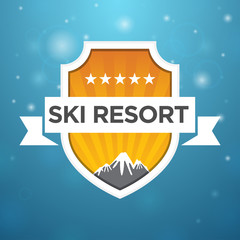 logotype ski resort five star