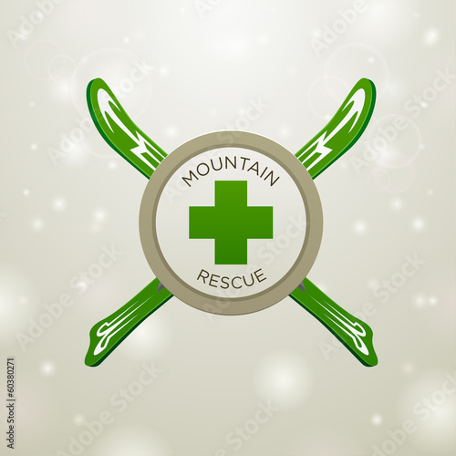Logotype mountain rescue