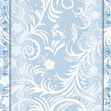 Blue card with lace