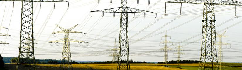 Stromleitung Strommast Panorama