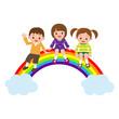 虹に座る子供達