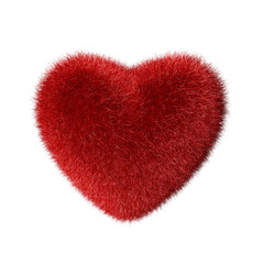 Red fluffy heart