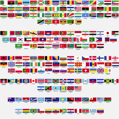 Official flags of the world, collection