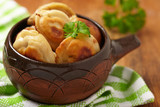 Roasted russian pelmeni
