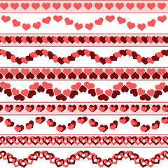 Valentine`s day borders