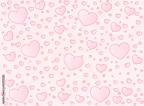 Valentine card hearts vector  background