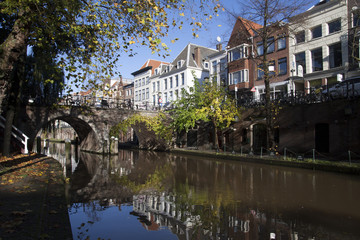 The Oudegracht (old canal) in Utrecht,