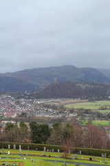 View over Stirling from Stirling Castle,Scotland, UK