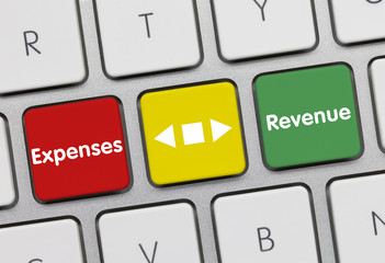 Expenses &revenue. Keyboard