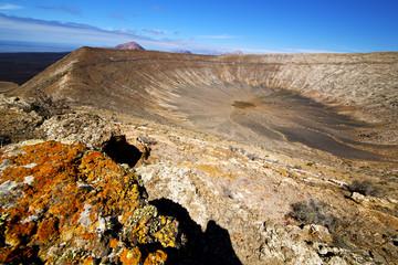 vulcanic timanfaya  rock stone sky  lanzarote spain