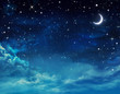 canvas print picture - beautiful background, nightly sky