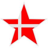 Denmark Danmark Star Logo poster