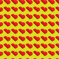 Heart pattern - seamless design with red hearts